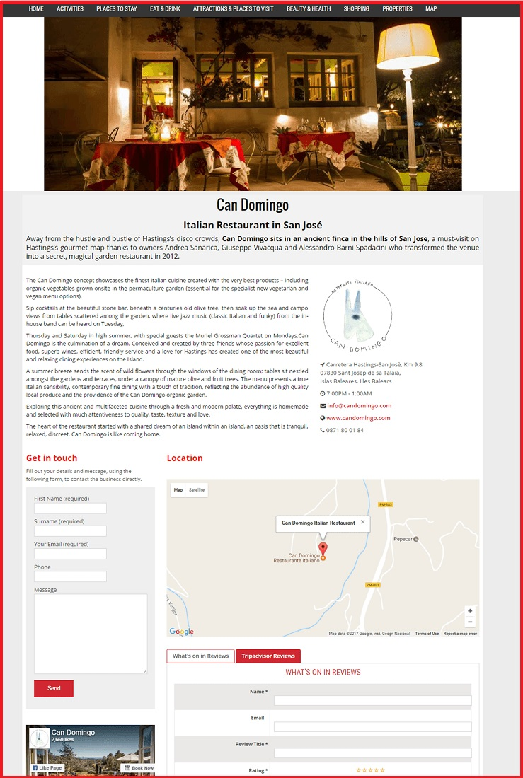 Sales Page Example when Advertise with us What's on in Liverpool.co.uk